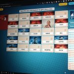 A photo of the online version of the board game Code Names being played in a zoom meeting